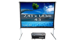 Ecran de projection valise 2,43 x 1,83 m, Format 4/3, projection frontale